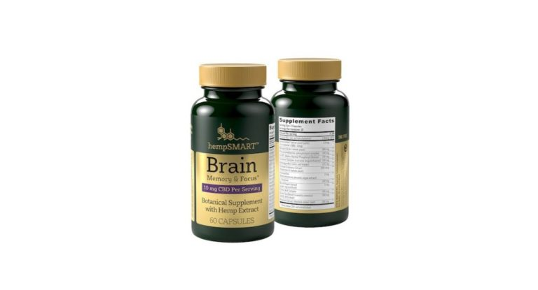 hempsmart™ Brain Memory and Focus Front and Back